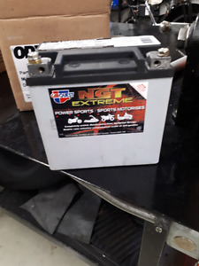 brand new power sports battery   used to fire bike up once!
