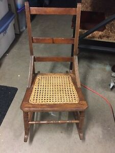 Old wicker seat rocker