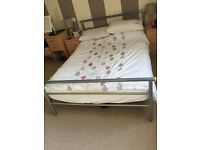 Silver double bed frame - OPEN TO OFFERS