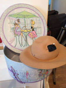 Antique hats with hat boxes