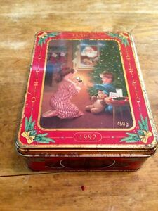 Vintage Oreo Cookie Christmas Tin from 1992