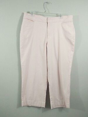 - Riders by Lee Womens 16M Stretch Pink Stripe Capri Cropped Pant