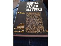 Mental health matters - social work book