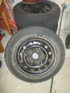 Toyo snow tires on rims 205 60 x 16 - full set $240.