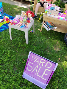 The kids are having a yard sale today!