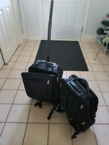 Convertable backpack roller bags