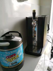 Perfect draft machine and keg