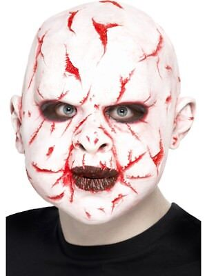 Scar Face Mask, Latex Overhead Mask Adult Smiffys Fancy Dress Costume Accessory