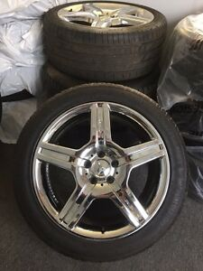 """19"""" MERCEDES AMG RIMS AND TIRES"""