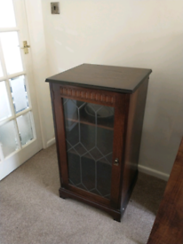 Wooden cabinet glass front