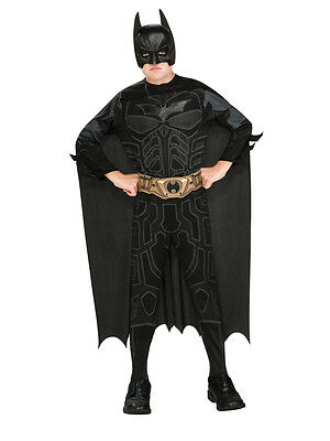 Child Batman Dark Knight Rises Black Kids Boys Superhero Fancy Dress Costume (Kid Batman Kostüme)