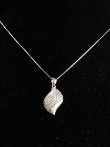 Sterling silver and CZ necklace BRAND NEW