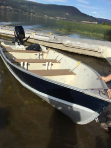 Arctic Sport 14' HD aluminum boat with 15 hp Mercury Outboard