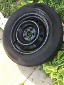 Toyota steel rims and tires