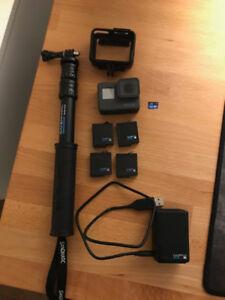 GoPro HERO5, 4 batteries, chargeur double et accessoires