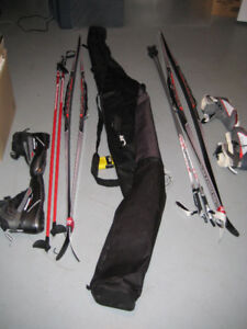 2 COMPLETE CROSS COUNTRY SKI SETS