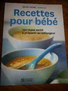 Livre de recettes de purées pour bébé