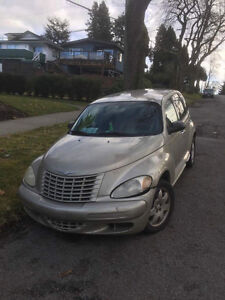 AS IS PT cruiser- damaged but still drives ! Great mileage