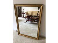 Decorative gold mirror