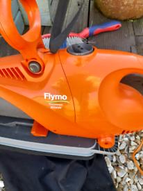 Flymo grass blower