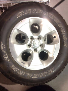 Jeep Factory Wheels and Tires - $700