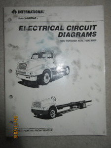 1989 International 1000 4000 7000 8000 Electrical circuit Diagra
