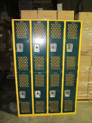 Superior Heavy Duty Metal School Gym Locker Double Tier 4 Wide 48w X 12d X 75h