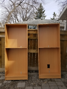 FREE! - 2 Wood Book Cases with Shelves