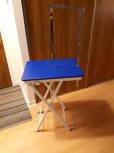 table portative pour toilettage annimaux
