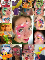Professional Face Painting and Balloon Art Duo