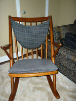 Solid Teak Bramin Rocking Chair