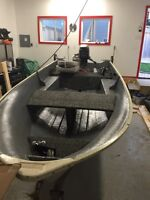 12' custom fishing boat 9.8 Mercury