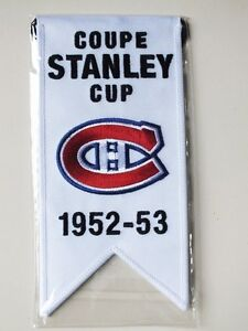 CENTENNIAL STANLEY CUP 1952-53 BANNER MONTREAL CANADIENS HABS