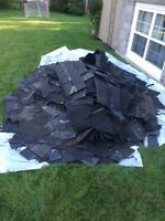 Junk removal.  Roof Shingles.