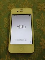 iPhone 4 white 16gb locked unknown carrier as is
