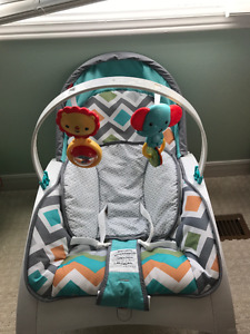 Baby stuff for sale including Fisher Price chair and walker