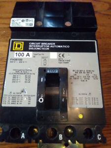100 amp Square D Circuit Breaker