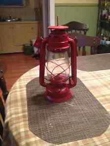 Antique hurricane lantern