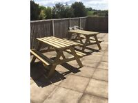 Garden table pub table /bench commercial seating