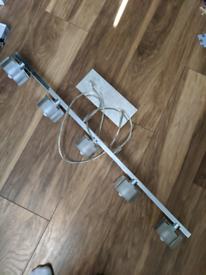 Chrome Light Fitting - 5 Bulb