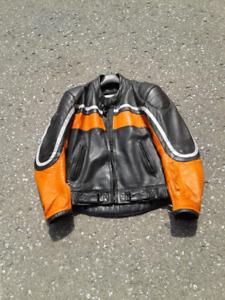 HJC Leather Motorcycle Jacket - Sz 42 (Medium)