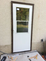 ENTRANCE Exterior & Man door new door Replacement . with new out