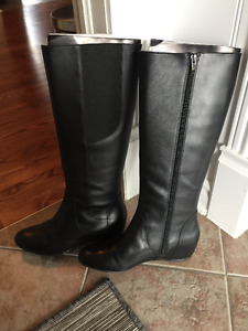Enzo Angiolinin Black Leather Riding boots