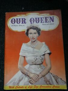 Vintage 'Our Queen' Coloring Book, Karsh Portrait.