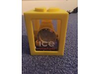 Yellow Ice Forever large wrist watch gel silicone new