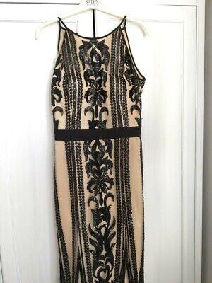 Ausschnitt Bandage Kleid (Abendkleid Hochzeit Abikleid bandage 36/38 Pailletten Rückenausschnitt asos )