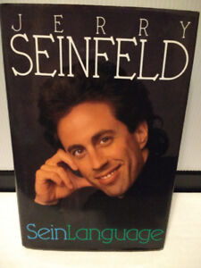Jerry Seinfeld Book SeinLanguage 1993 Hardcover Humor Comdey