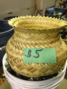 Wicker Basket for plants & other things $5