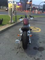 modified harley sportster with lots of extr parts