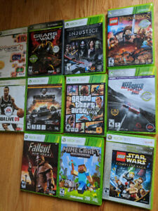 Xbox 360, Two Controllers, 11 Games, OBO